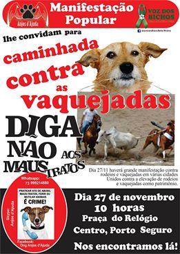 Porto Seguro no movimento nacional contra as vaquejadas