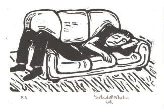 Xilogravura de Suellen Martins (Foto: Reprodução)