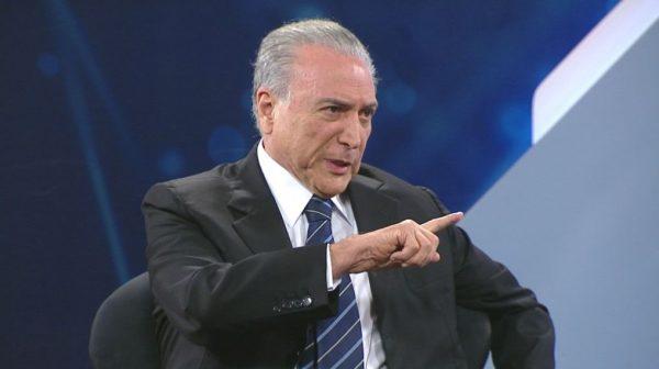 Ao vivo, Temer confessa que Dilma caiu porque não cedeu à chantagem de Cunha