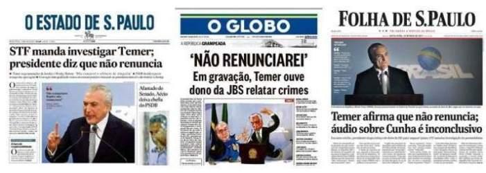 Jornalismo e hegemonia nas capas dos jornais impressos