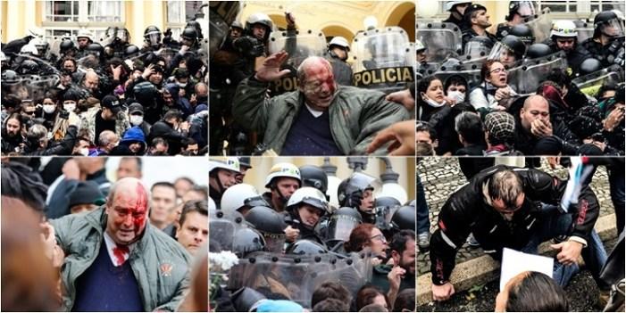 As imagens mais marcantes do massacre da PM contra servidores de Curitiba