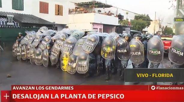 Argentina: Brutal repressão a trabalhadores da Pepsico agora de manhã