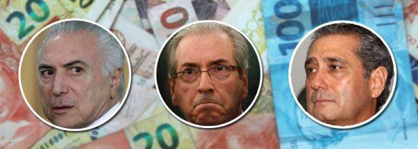 Temer mandou JBS entregar R$ 3 milhões a Cunha em dinheiro vivo