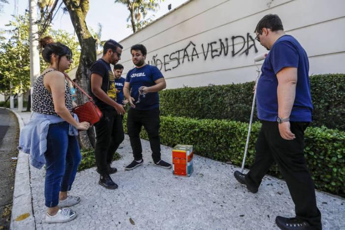 Membro do MBL que pintou muro de Doria ganha emprego na prefeitura