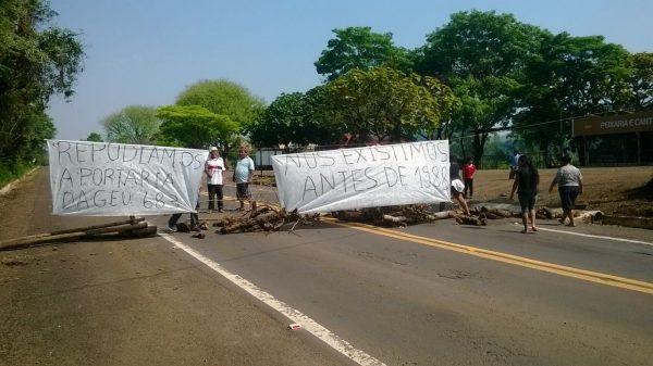Indígenas Kaingang ocuparam rodovias no RS e exigem revogação do parecer anti-demarcação
