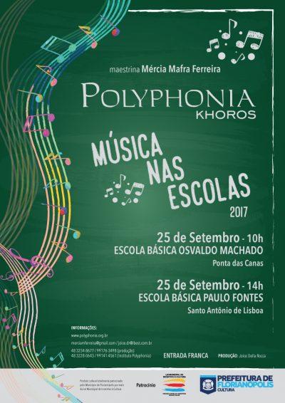 Escolas básicas de Florianópolis recebem o Polyphonia Khoros