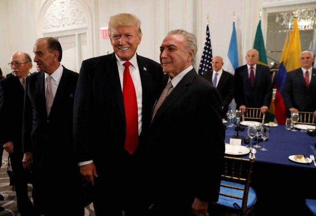 Nos EUA Temer promete reforma da previdência e entregar o Brasil ao imperialismo