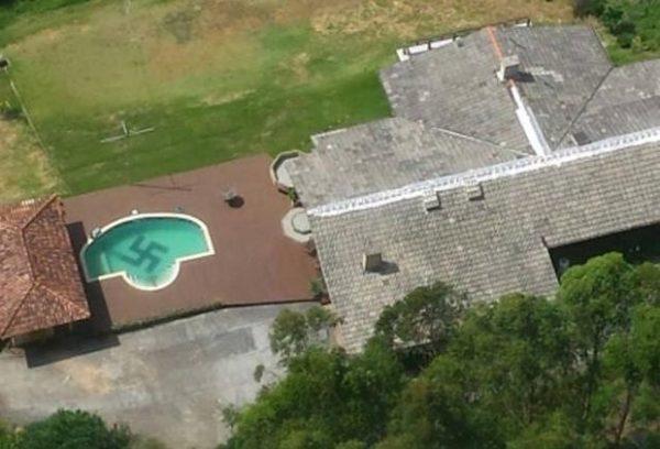 O que aconteceu com o professor de Pomerode que tinha uma suástica na na piscina de casa?