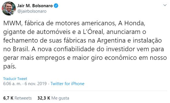 Presidente já informava sobre cenário de troca