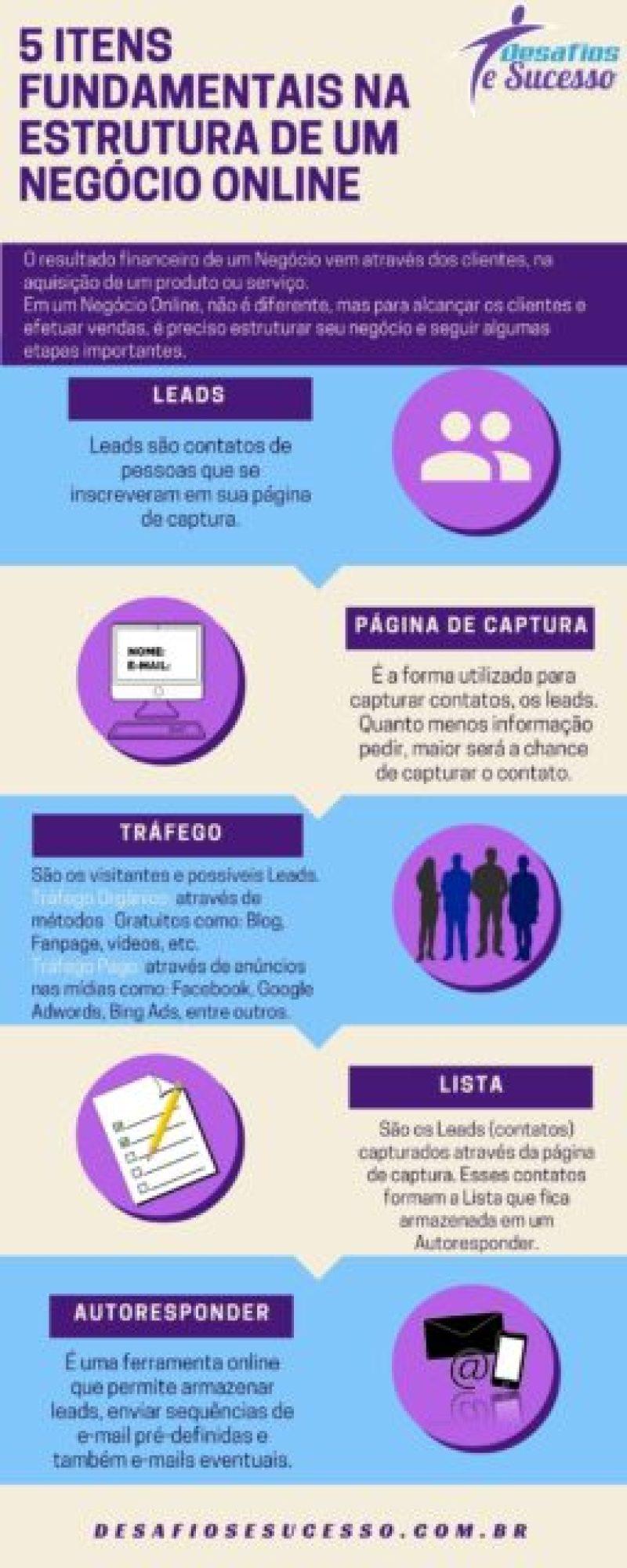 Infográfico - Estrutura de um Negócio Online