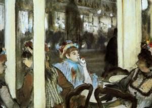 Degas. Femme á la terrasse d'un cafe le soir