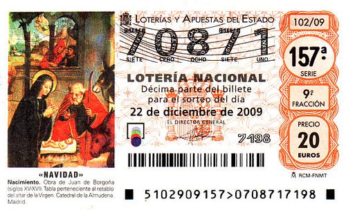 El billete de lotería
