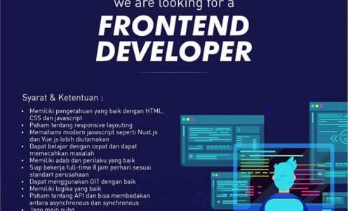 Lowongan Gogarmen Backend & Frontend Developer Bekasi