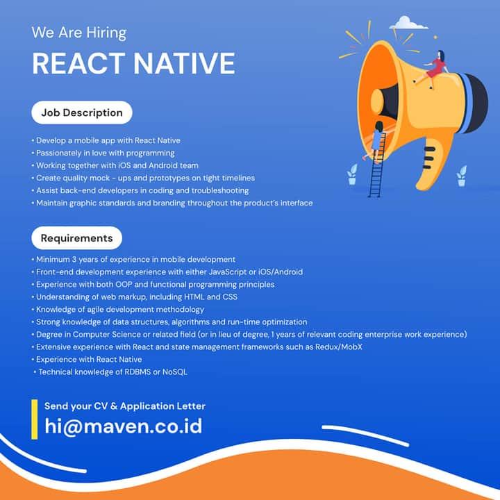 React Native Developer Maven
