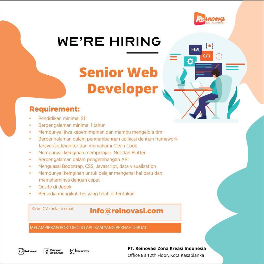 reinovasi senior web developer