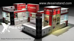 desain stand pameran komputer