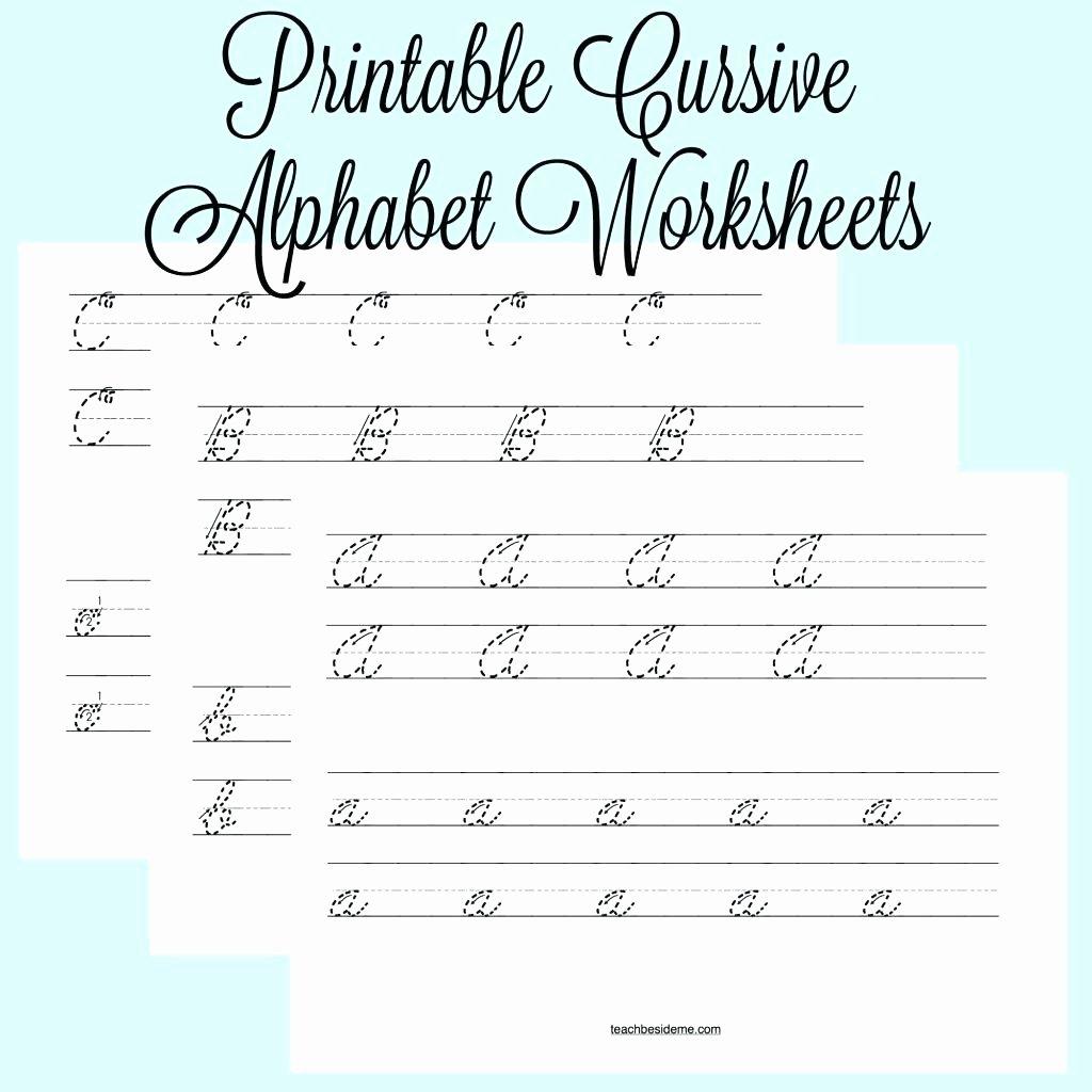 40 Cursive Writing Practice
