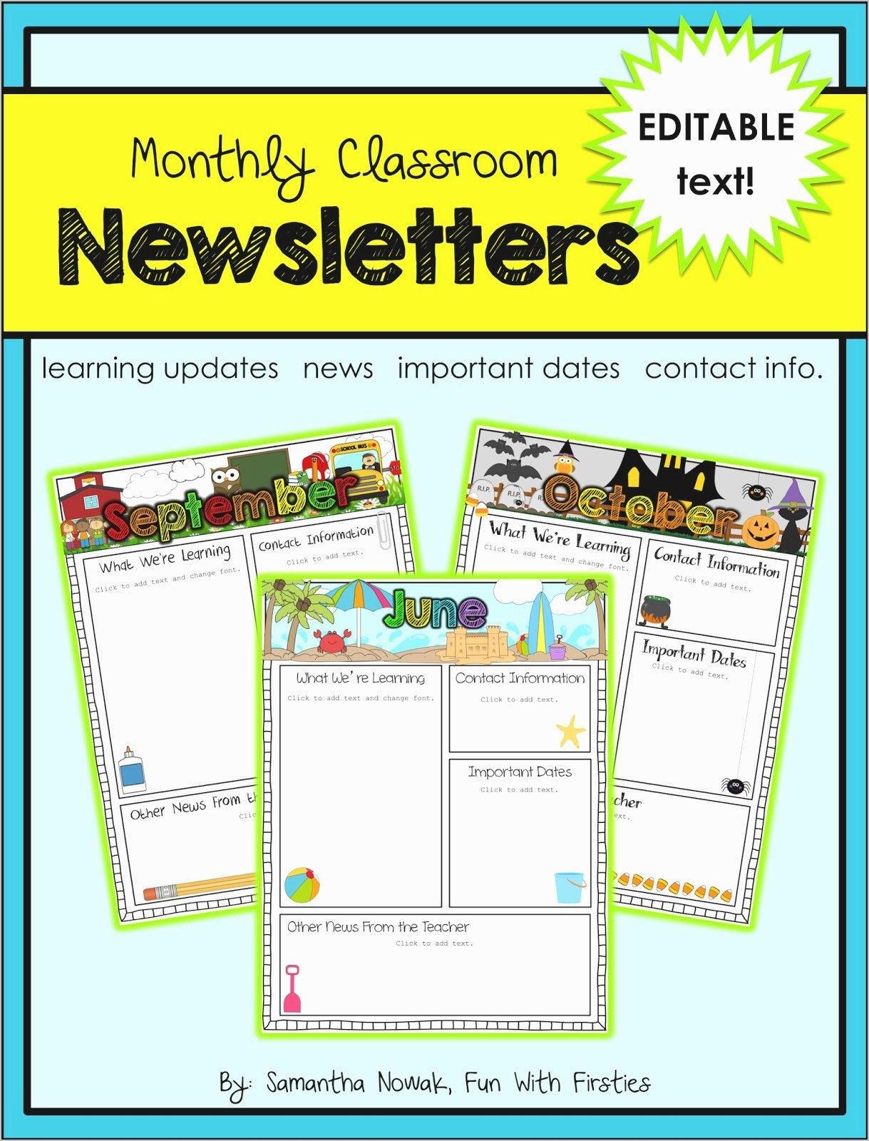 40 Free Editable Newsletter Templates