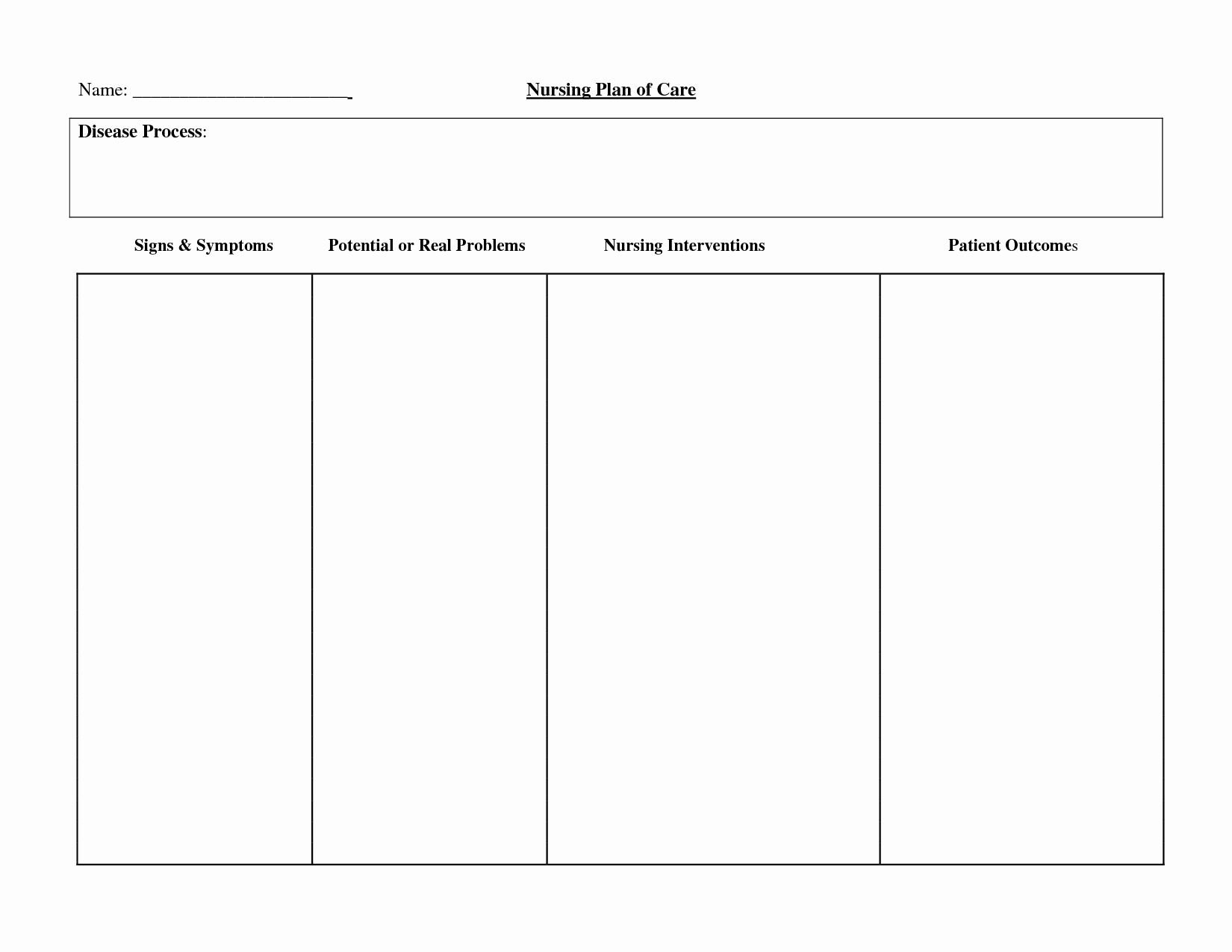 40 Nursing Care Plans Template