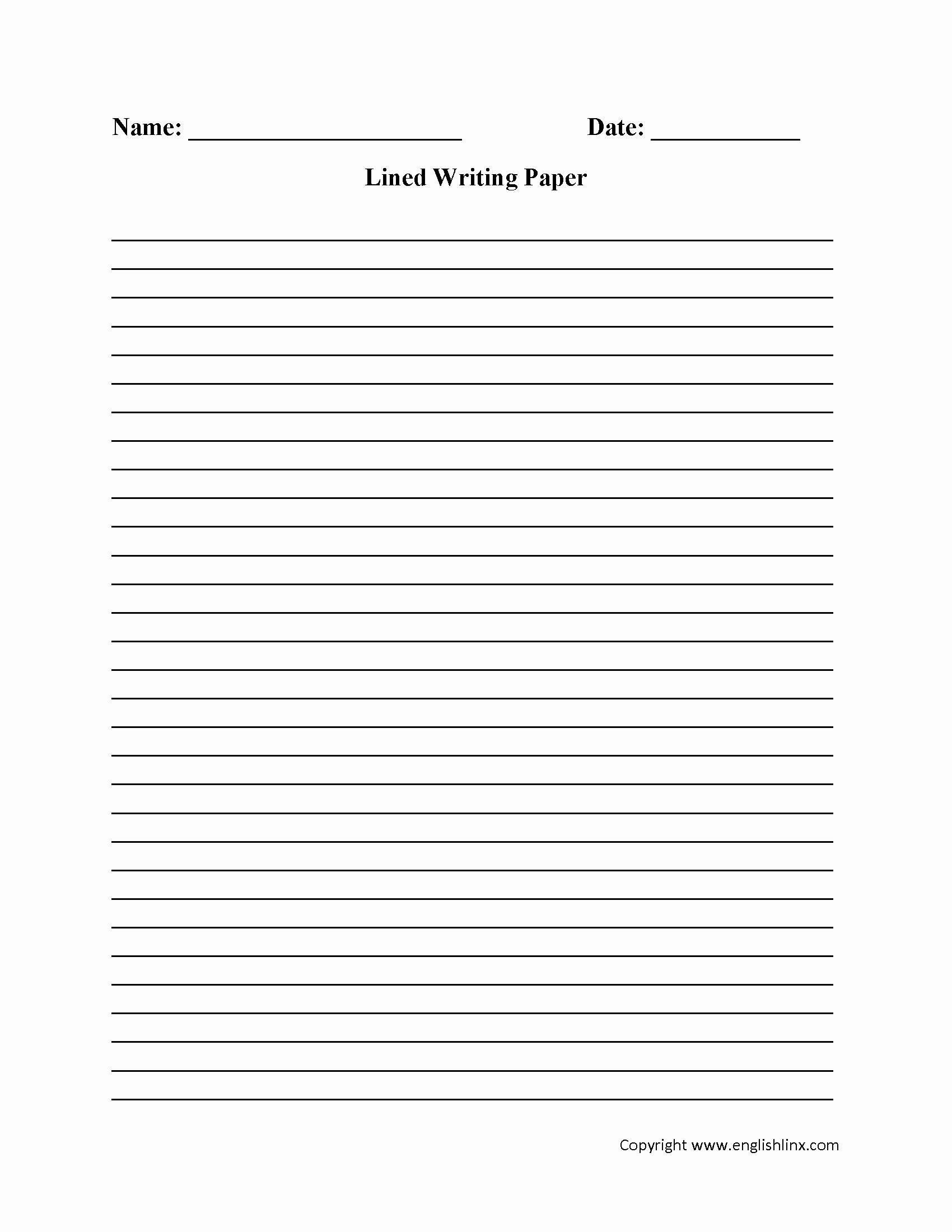 40 Printable Lined Paper
