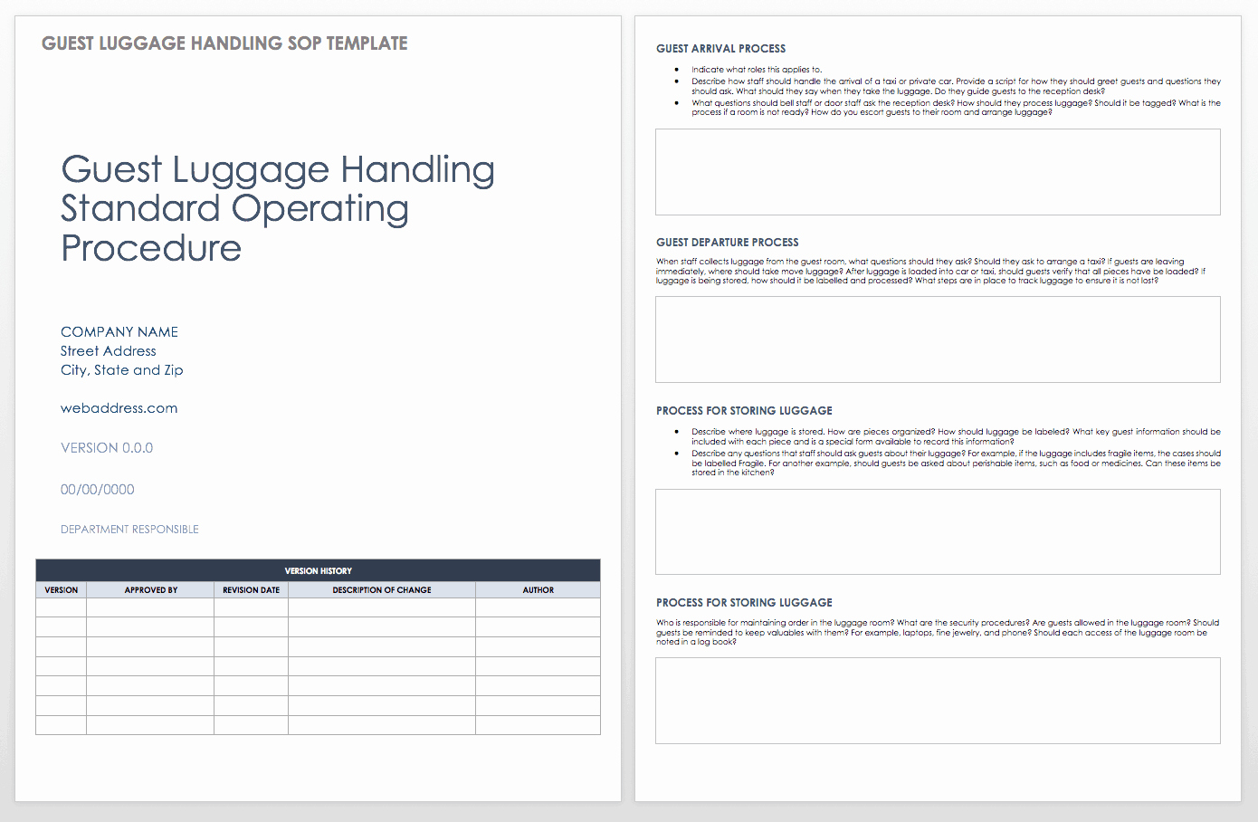 40 Standard Operating Procedure Example