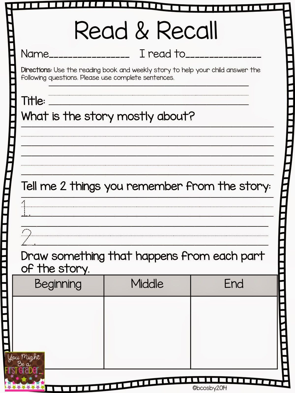 20 4th Grade Reading Response Worksheets