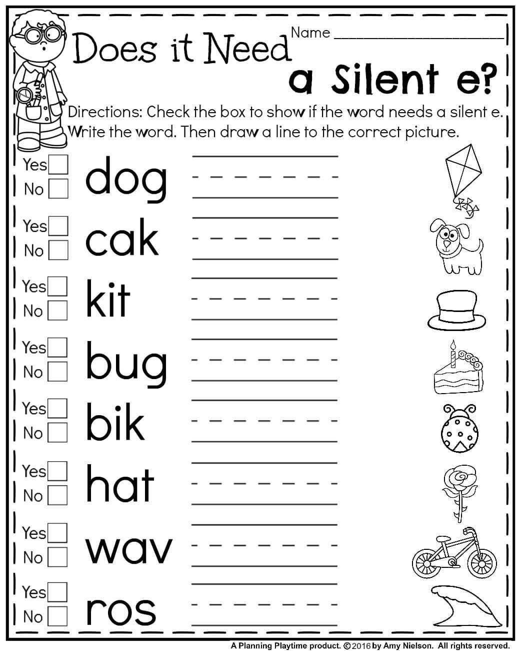 20 Long Vowels Worksheets First Grade