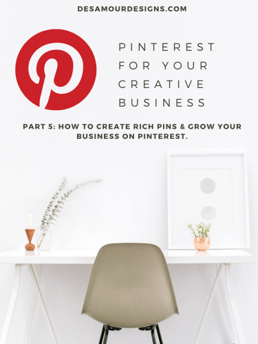 Social Media Series: Pinterest for your Creative Business *Part 5*