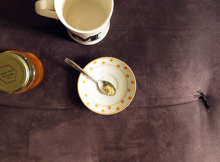 chá de mel com limão