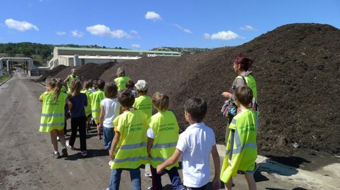 Visite du centre de compostage Biotechna