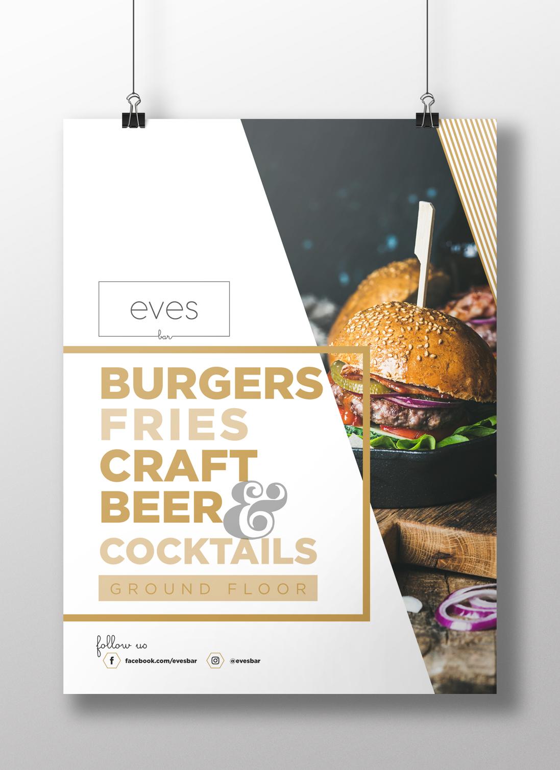 Eve's Bar food poster