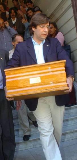 Miranda Pérez, Fernando, entierro