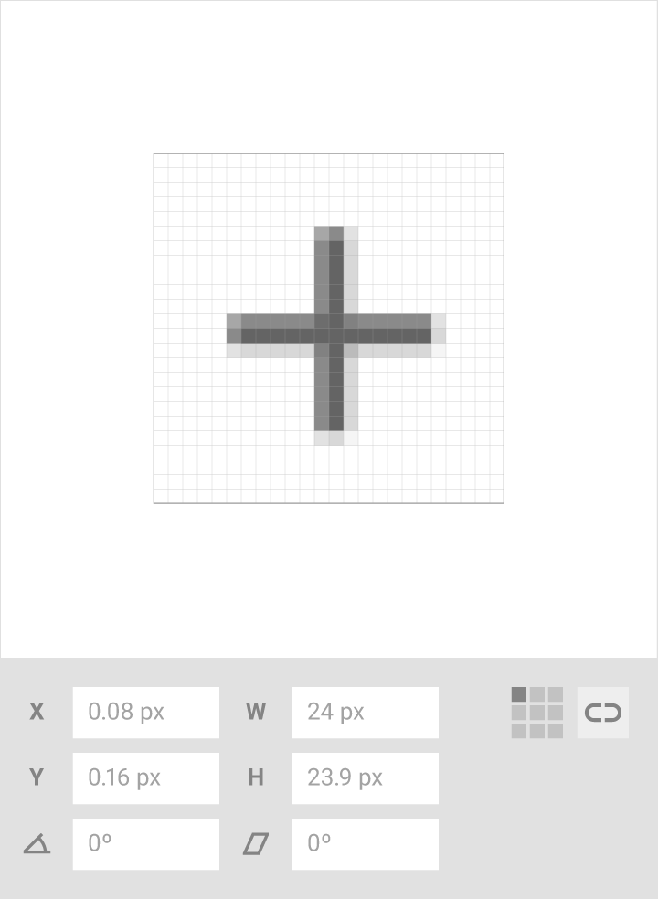 iconos del sistema material design