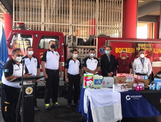 134 compañías del Cuerpo de Bomberos Voluntarios a nivel nacional reciben donación de equipo de protección personal y productos de higiene