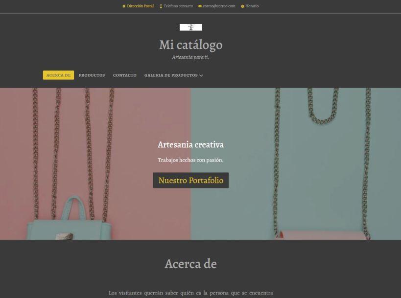 Pack web prediseñado tipo catálogo
