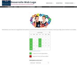Plugin de reservas en Desarrollo Web Lugo