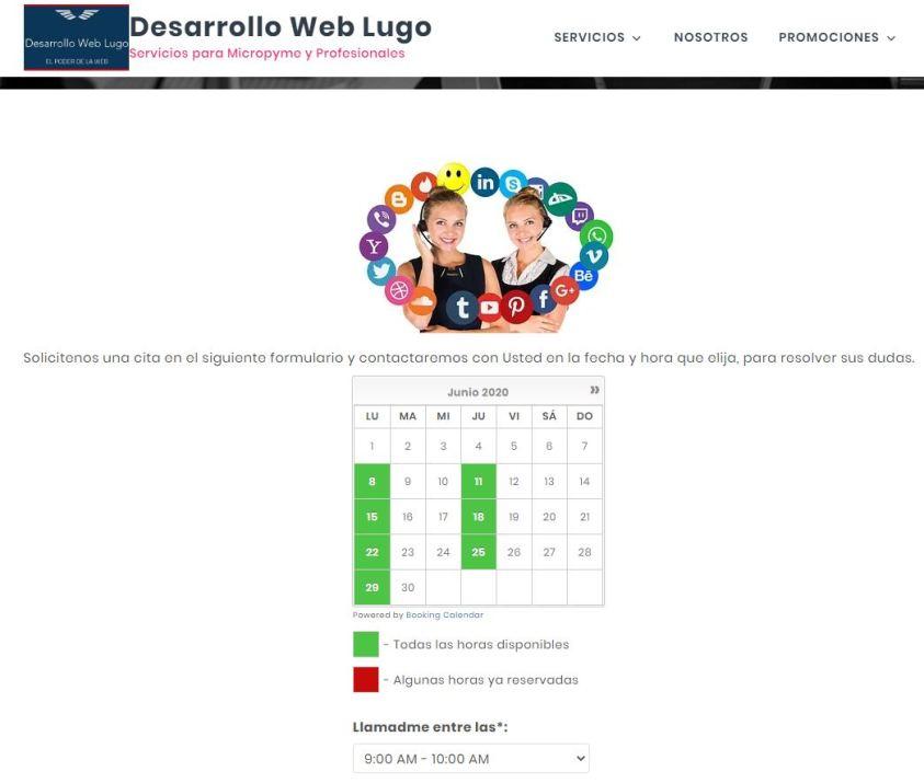 Plugin de reservas web