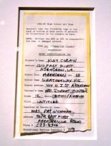 Documento de Cobain en su clase de arte