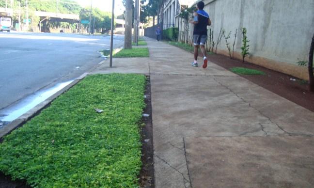 Km 1,5 - Calçada da rua Figueira