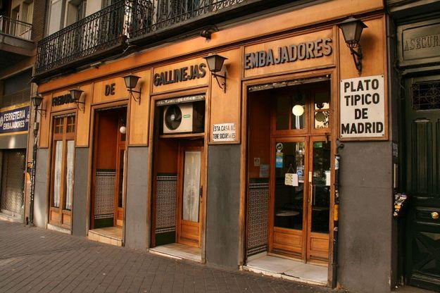 Freiduría de Gallinejas, um dos comércios mais antigos e típicos da rua