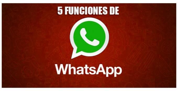 5 funciones de WhatsApp