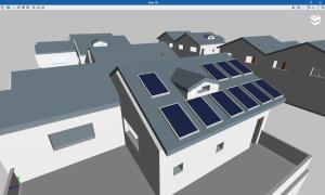 CYPELEC HE 5. Posicionamiento de paneles fotovoltaicos sobre cubiertas inclinadas