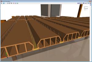 CYPECAD. Vistas 3D de viguetas, bovedillas, paneles de chapa en losas mixtas y tendones de postesado