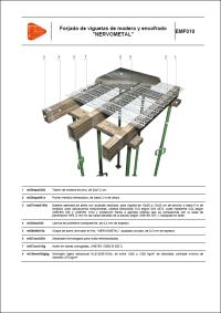 Detalles Constructivos. Forjado de viguetas de madera y encofrado. NERVOMETAL. EMF010