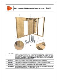 Detalles Constructivos. Muro estructural de entramado ligero de madera. EML010