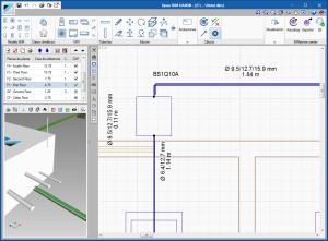 Open BIM DAIKIN. Visualización del número de tuberías a escala real en las vistas 2D y 3D