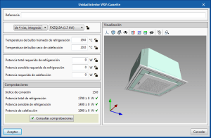 Open BIM DAIKIN. Visualización 3D de equipos en sus paneles de edición