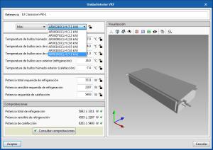 Open BIM FUJITSU. Dimensionamiento automático de las unidades interiores VRF