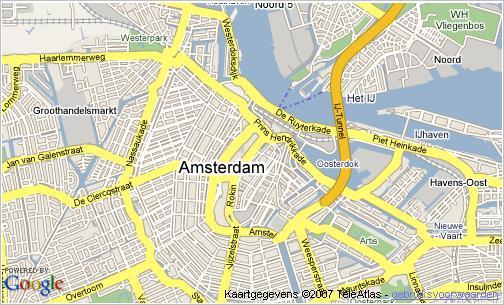 Nieuwbouw data op Google Maps