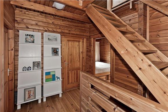 foto houten huis overloop